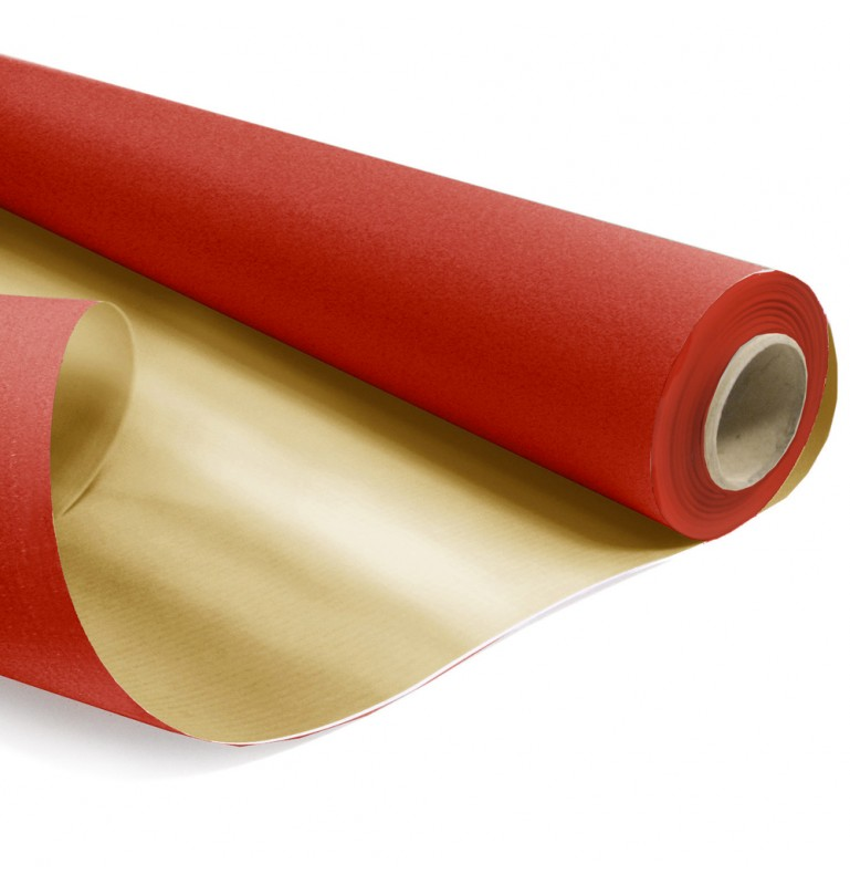 ROULEAU DUO KRAFT 0,79x40m ROUGE-OR