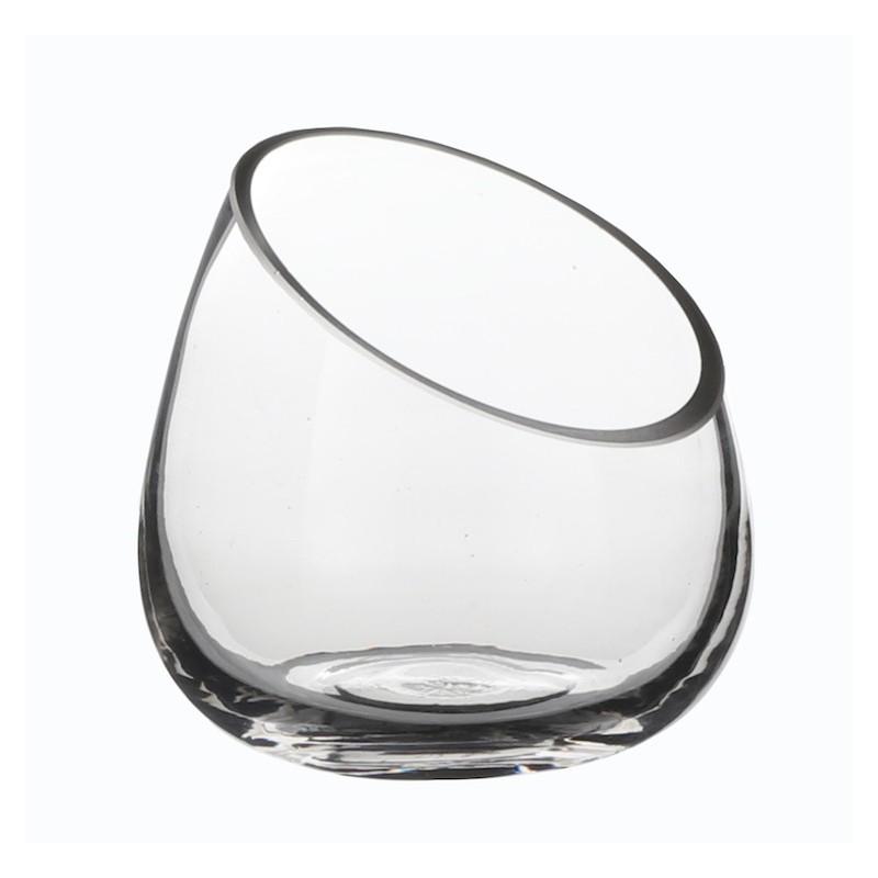 Vase verre coupé ø12cm