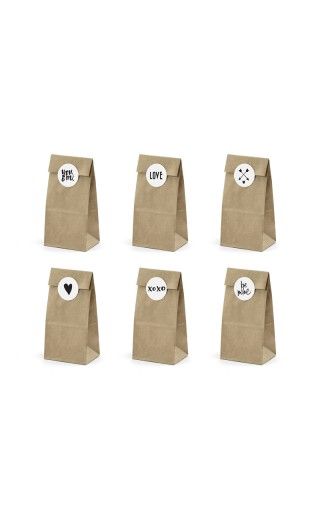 "Sachet kraft avec stickers ""Love"""
