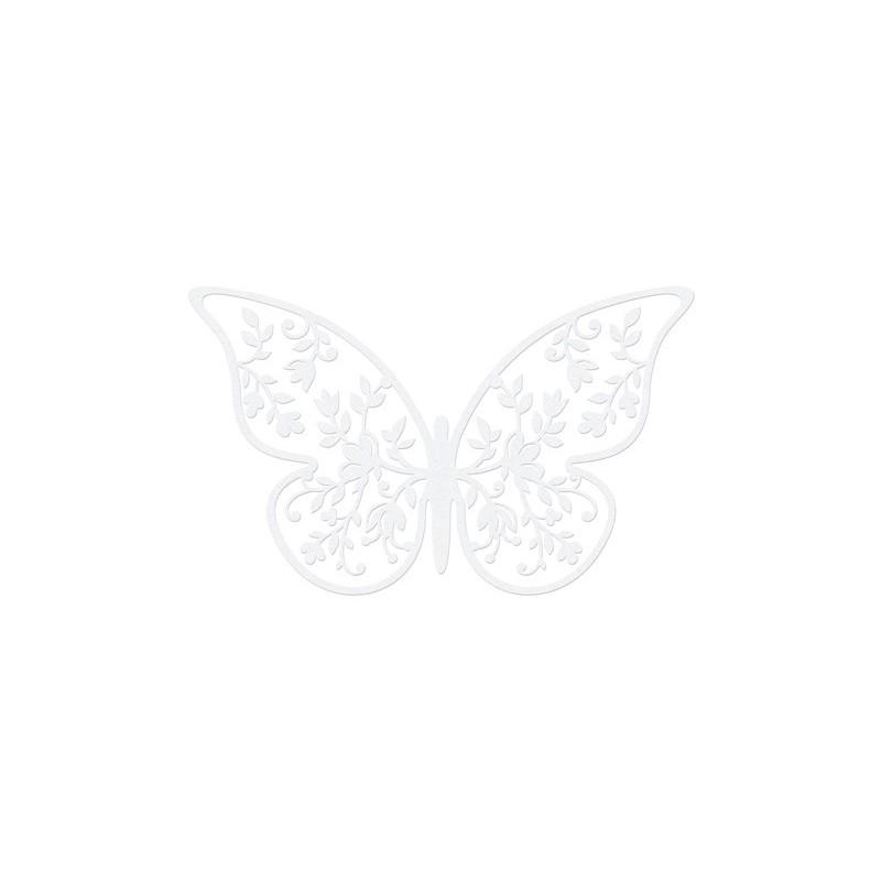 Papillon décoration papier 6,5x4 cm par 10 pièces