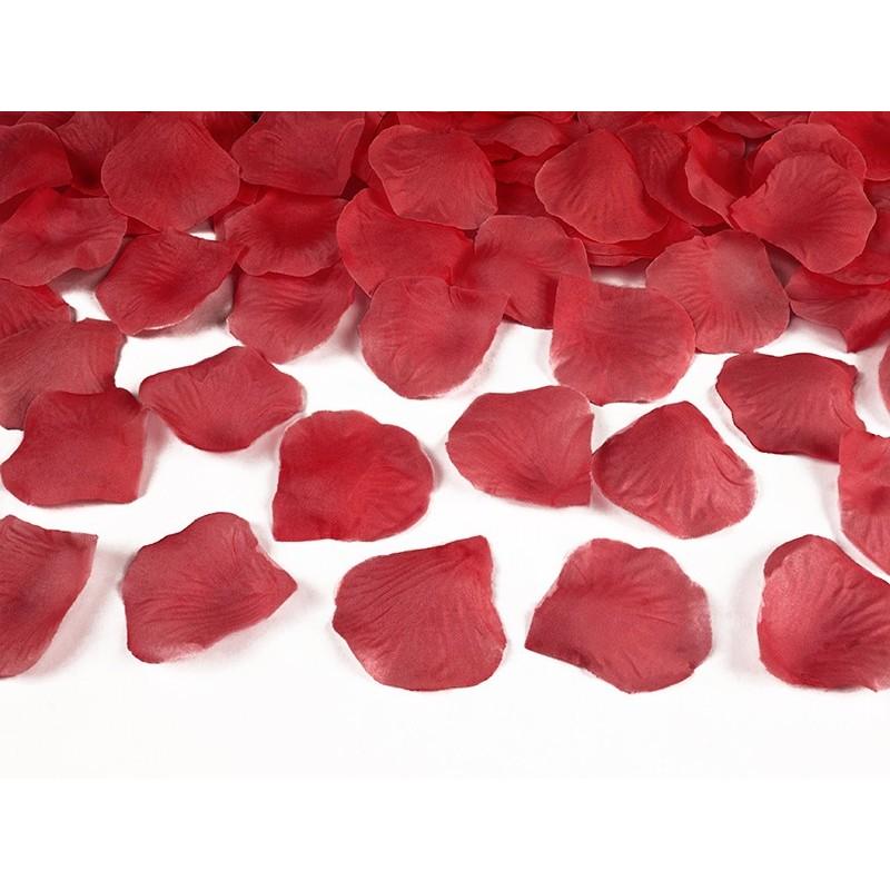 Pétales de roses rouge 100 pièces