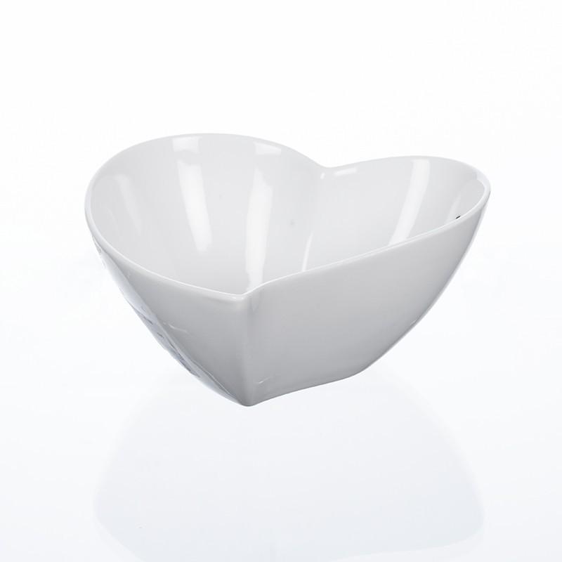 Coeur en porcelaine coloris blanc H6 cm L14 cm