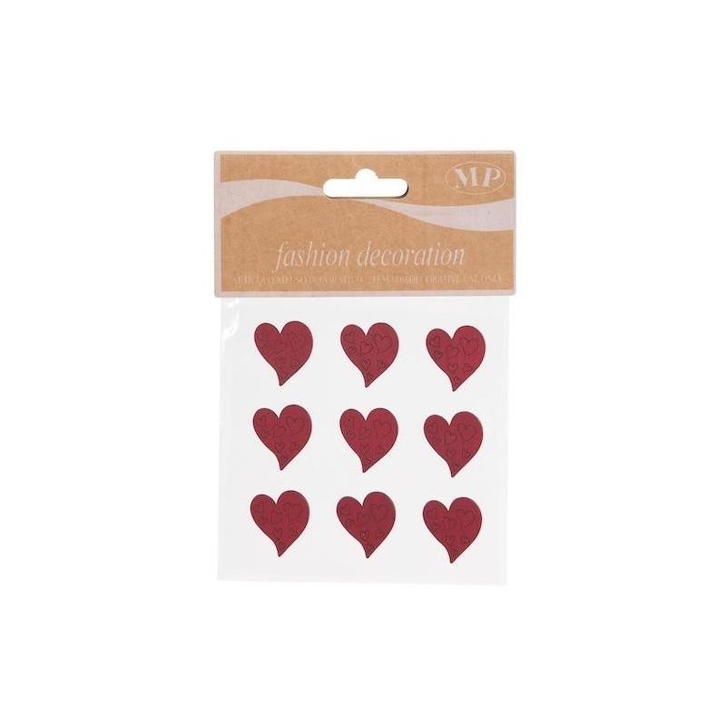 Stickers coeur en bois