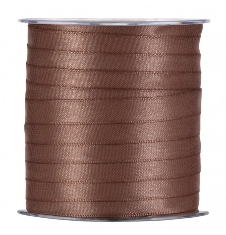 RUBAN SATIN 10mm x 100m_MARRON