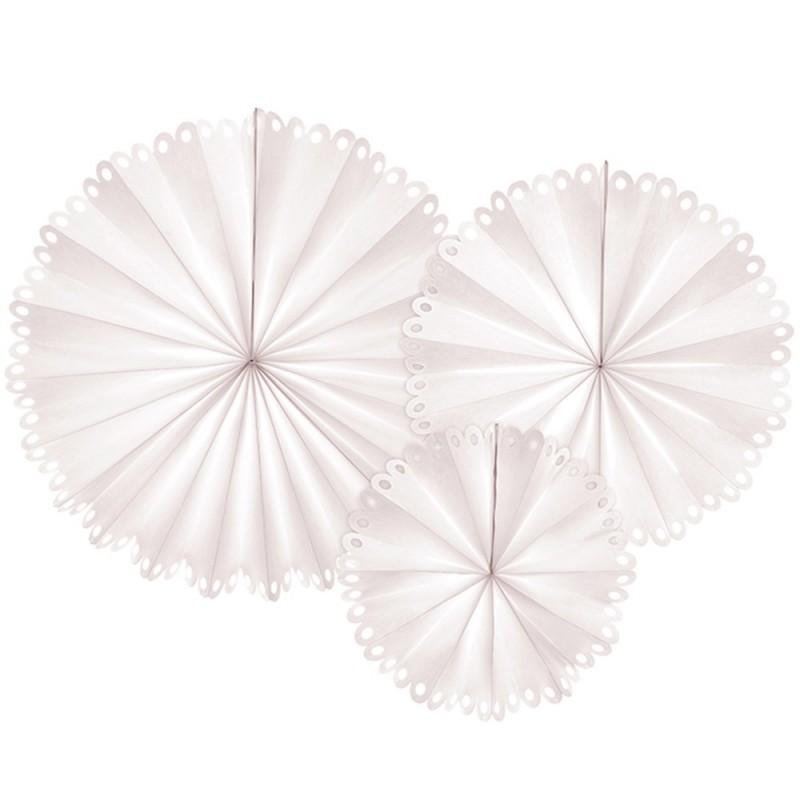 Rosace décorative coloris beige en lot de 3 pièces ø25/34/42,5 cm
