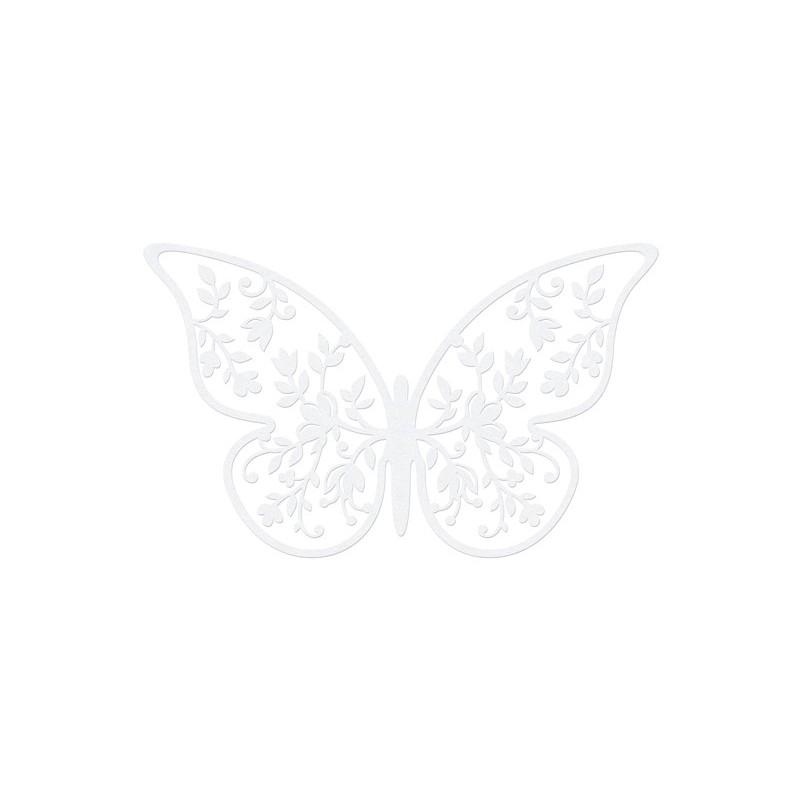Papillon en papier décoratif 8x5cm  par 10 pièces