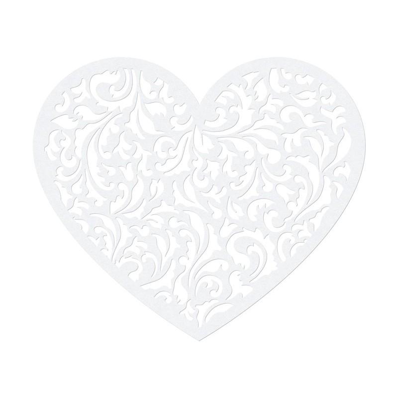 Coeur en dentelle : décoration papier