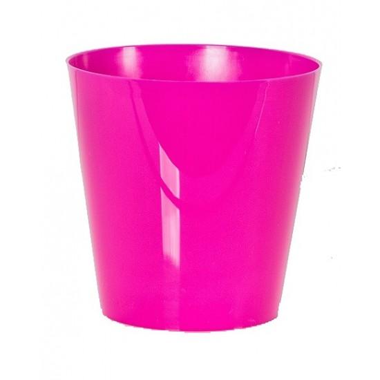 """Cache pot en plastique """"Simple"""" couleur fuchsia Ø15cm H15cm"""