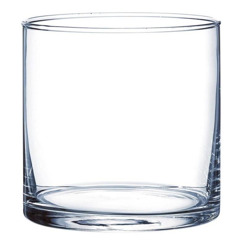 Vase en verre cylindrique ø10cm H10cm Transparent
