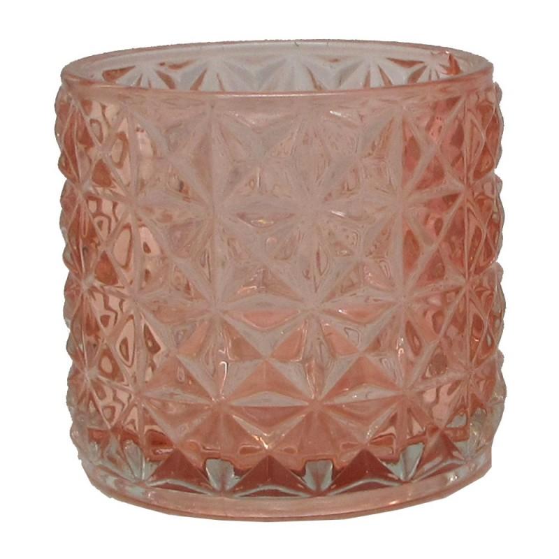 Photophore en verre Rose ø7cm H6,5cm