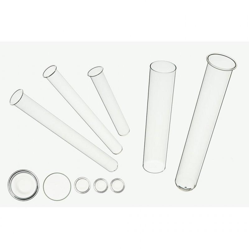 Tube a essai en verre X20pcs H18cm ø1,7cm Transparent