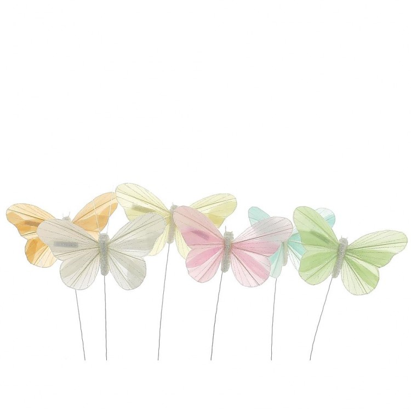 Papillon couleur par boîte de 12 en 11cm x H15cm