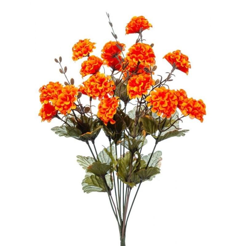 Piquet de pompom artificiel  Orange