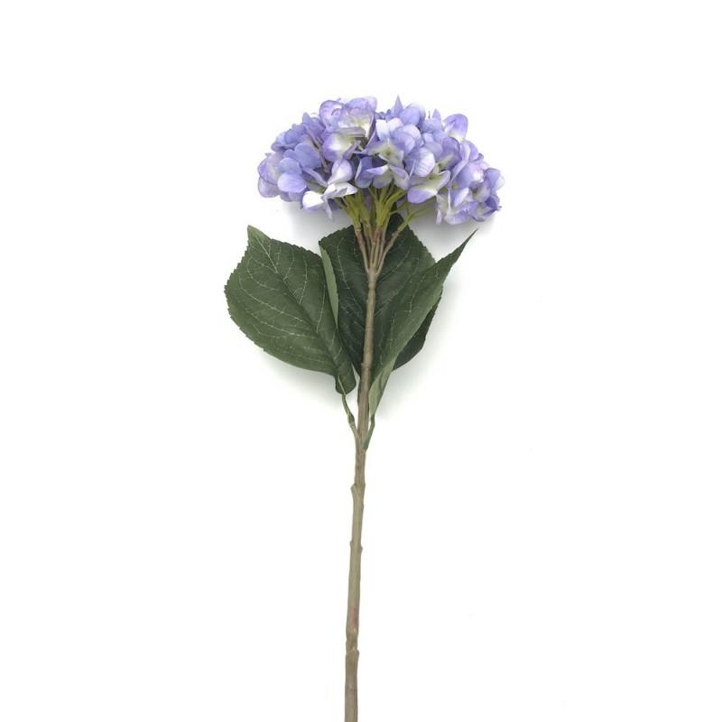 Hortensia tige artificiel bleu - 60 cm