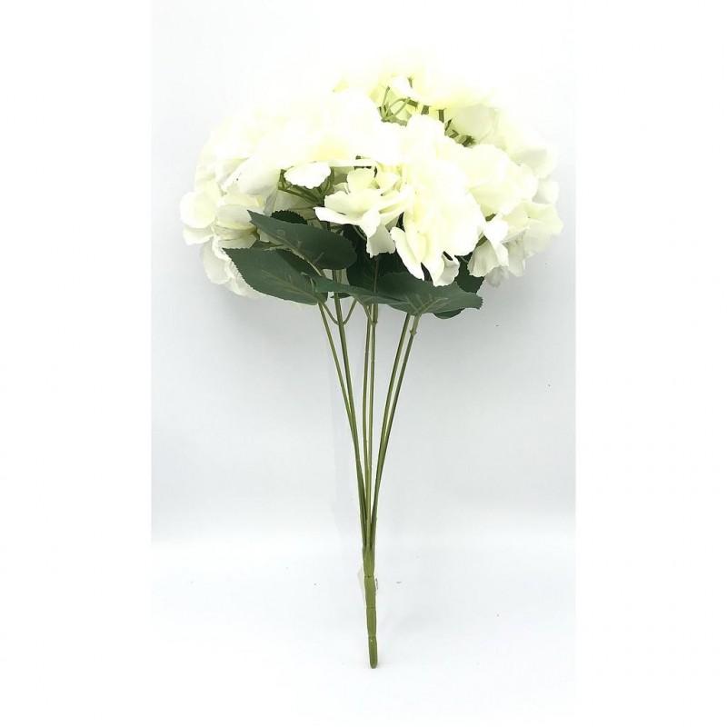 Piquet hortensia artificiel crème 50cm
