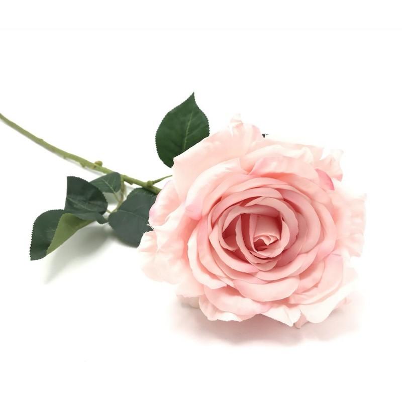 Rose tige artificielle rose GM 75cm