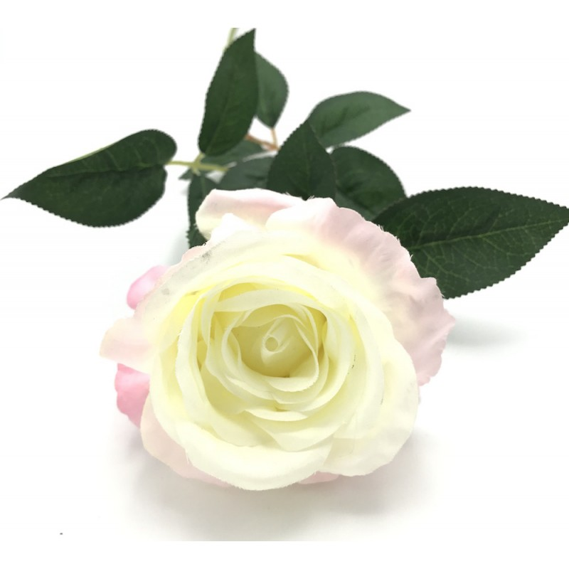 Rose toge artificielle rose pastel PM 60cm