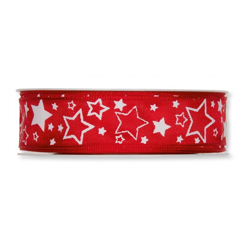 Ruban à étoiles 25m x 2,5cm