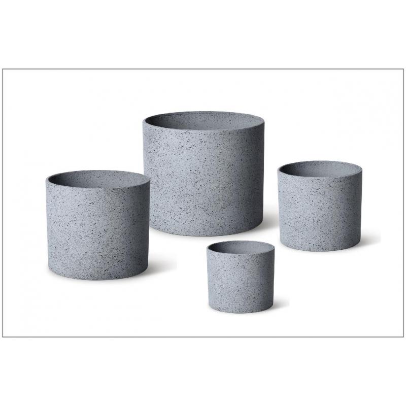 Lot de 4 pots en résine intérieur/extérieur
