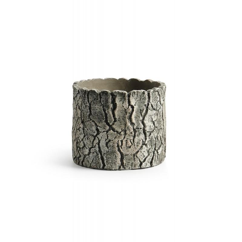 Pot rond effet bois 18x18x14,5H