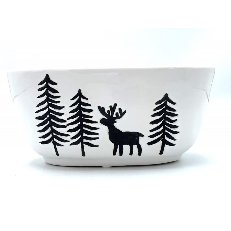 Pot ovale motifs de Noël