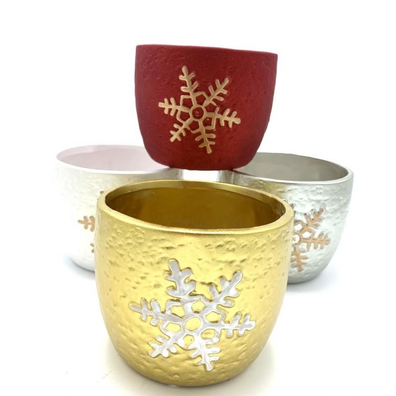 Pots en céramique à flocons ø12