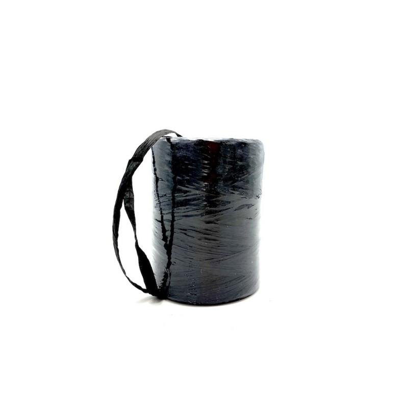 Raphia naturel noir 7mm x200m
