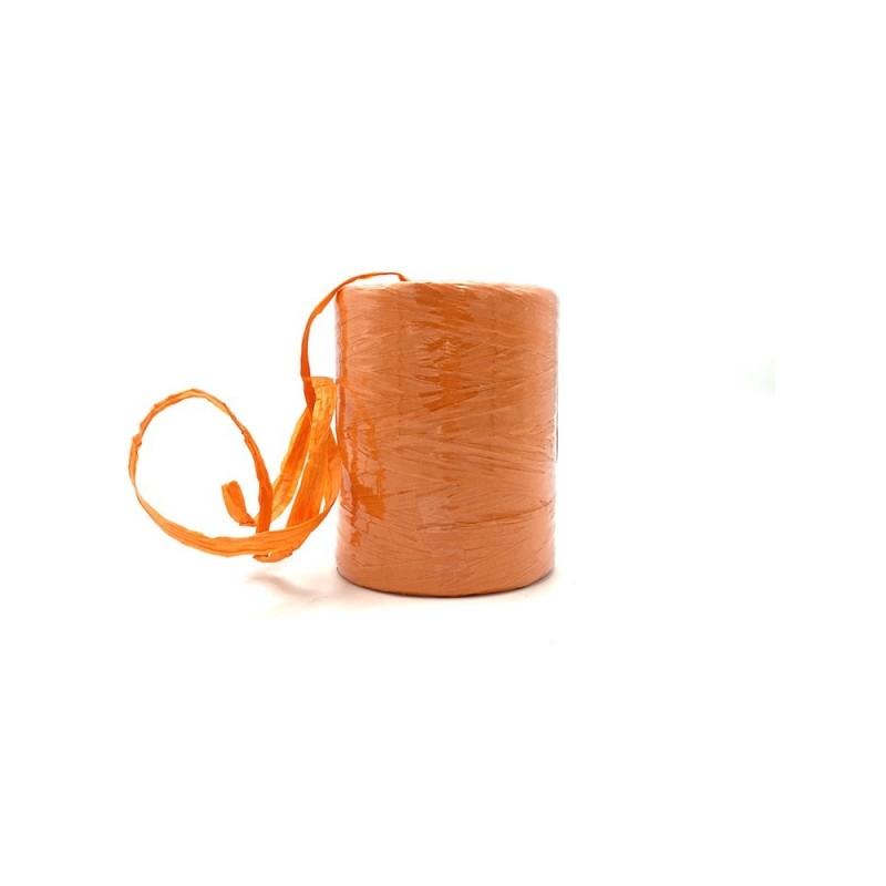 Raphia naturel orange 7mmx200m