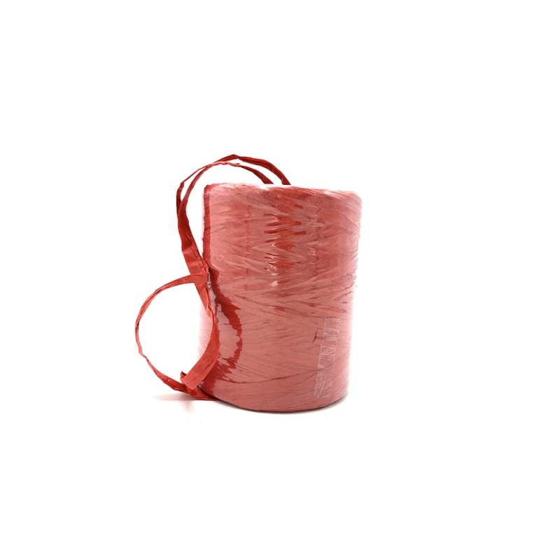 Raphia naturel rouge 7mmx200m