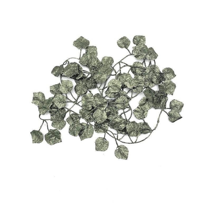 Guirlande de feuilles paillettes et vert 2m