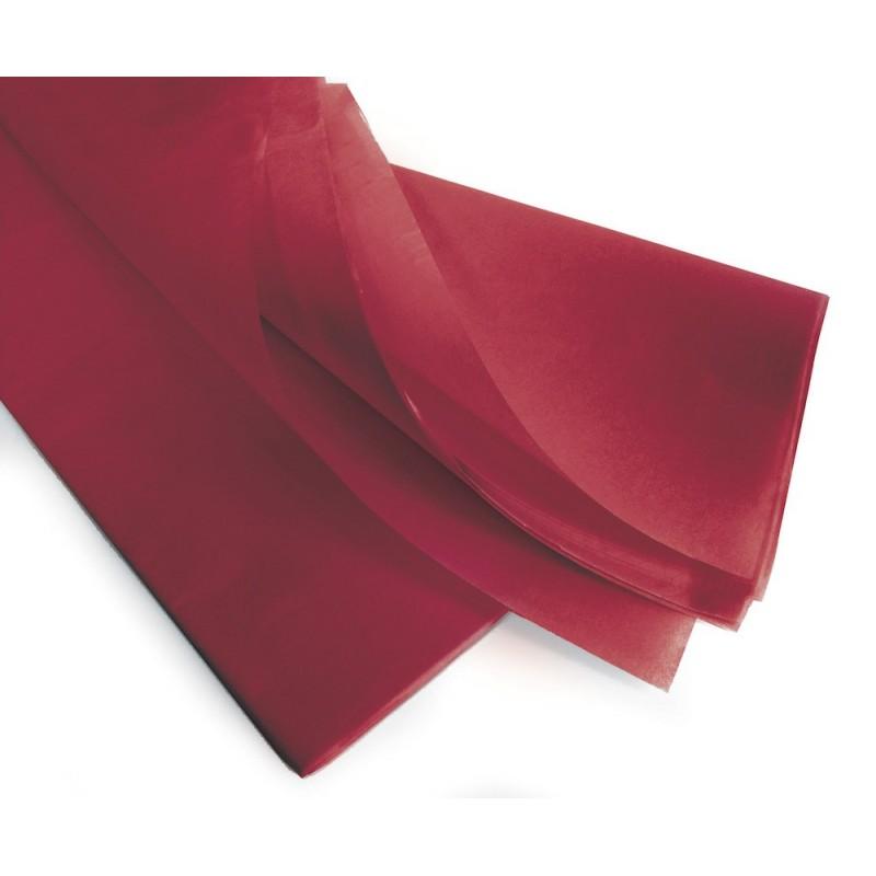 Rame papier de soie bordeaux 75x50 cm en 17gr/m2 par 240 feuilles