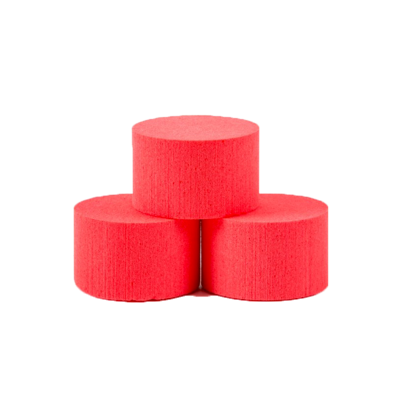 MOUSSE CYLINDRE MOUILLABLE_8cm_OASIS_ROUGE_25-38090
