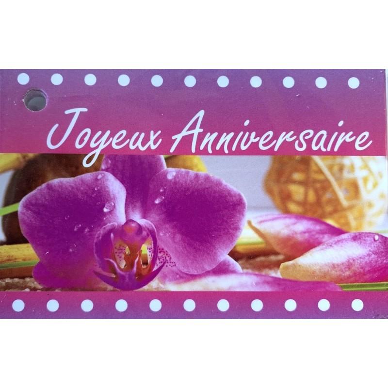 CARTE JOYEUX ANNIVERSAIRE SACHETx15pcs_9019