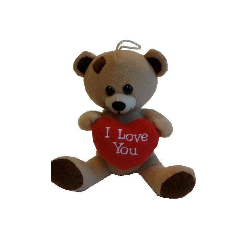 """Nounours coeur rouge """"I LOVE YOU""""  20cm"""