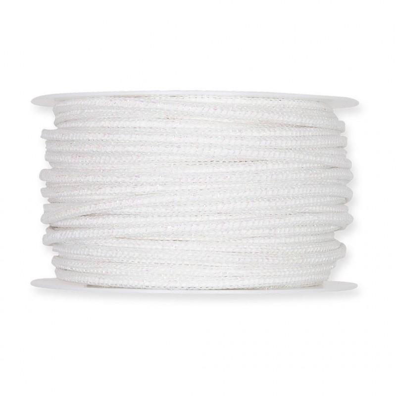Ruban/ficelle irisé armé coloris blanc