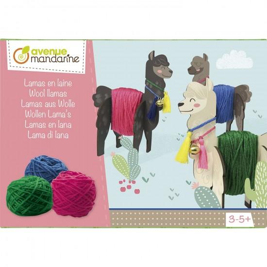 boîte créative -  lamas en laine