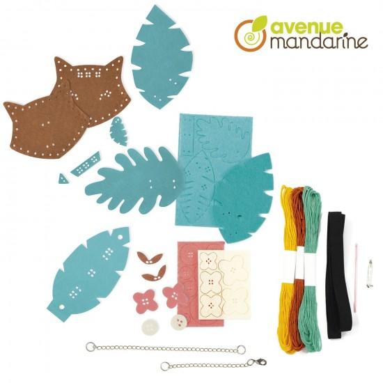 boîte créative - bijoux en feutrine à fabriquer - composition