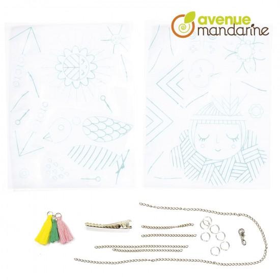 boîte créative - bijoux en plastique magique à fabriquer - composition