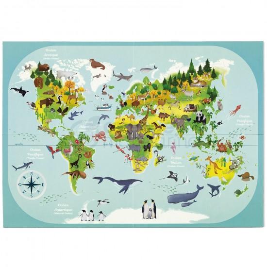 boîte créative - planisphère - carte