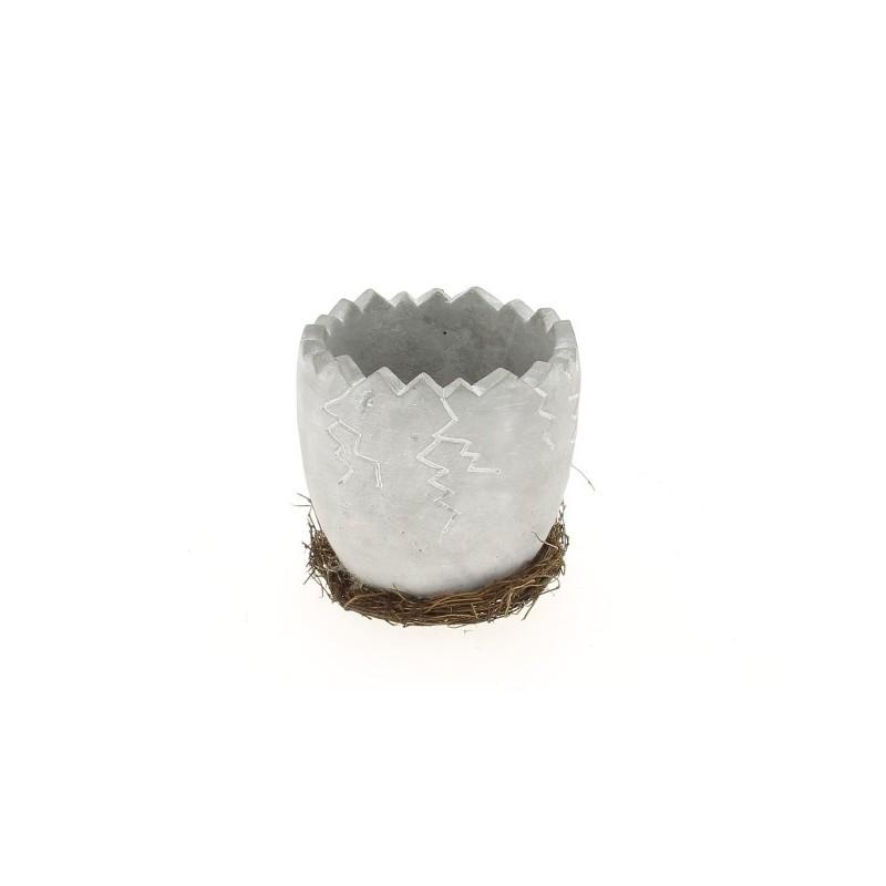 Pot coquille d'oeuf  ø11cm en H11,5 cm
