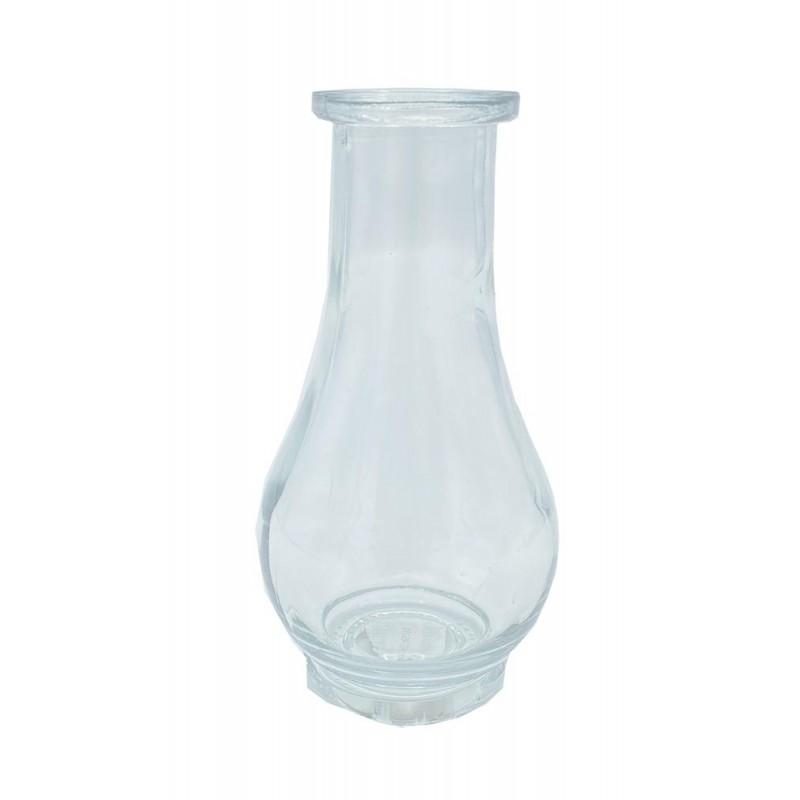 Vase en verre transparent H14xø7 cm