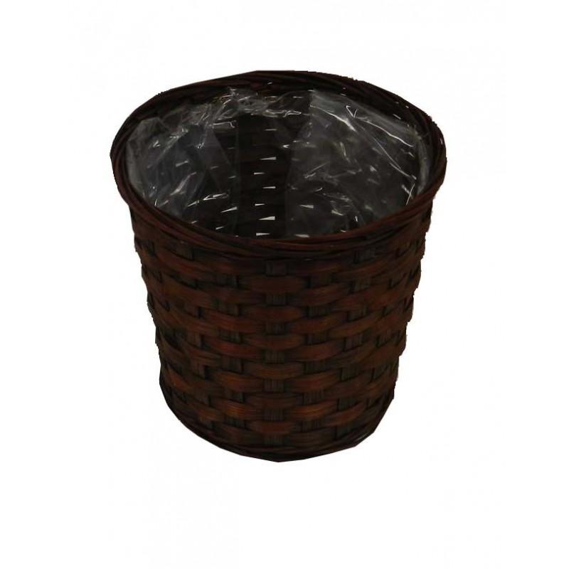 Pot rond marron ø14,5 cm