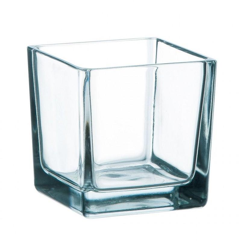 Cube verre transparent 8x8cm
