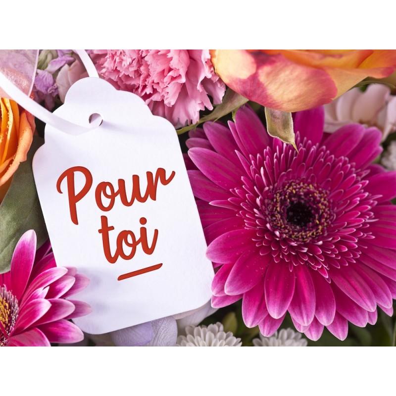 """Carte message avec enveloppe """" POUR TOI"""""""