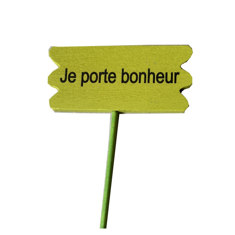 "Pic ""je porte bonheur"""