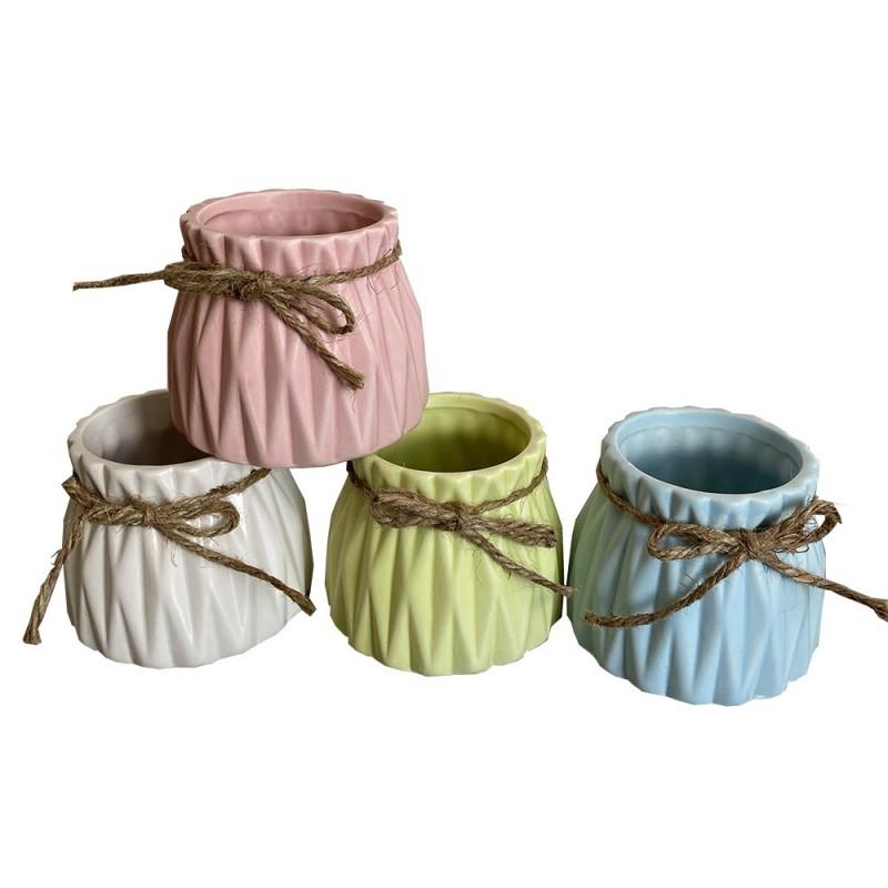 Pot en céramique et cordelette