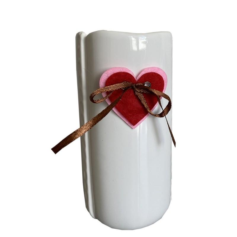 """Vase céramique Blanc """"collection couture """""""