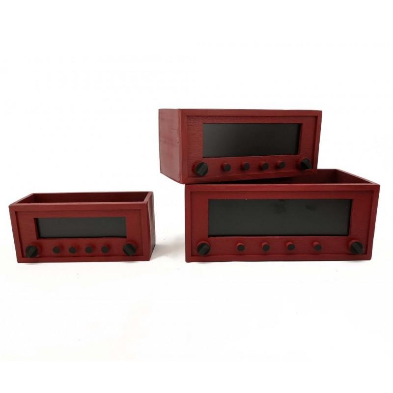 Transistor en bois Set de 3 pièces
