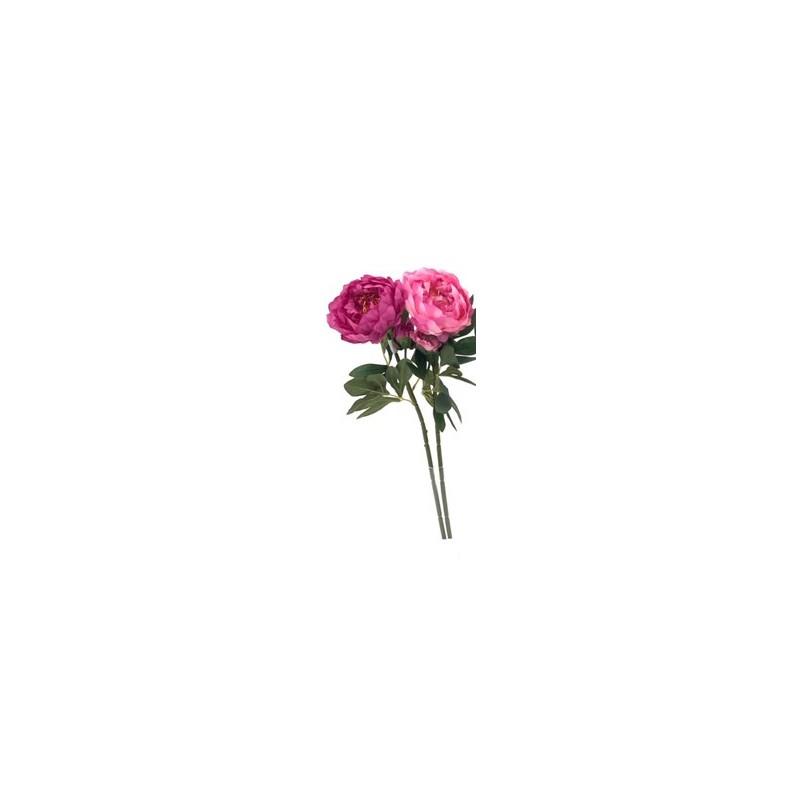 Pivoine artificielle Rose et Rose foncé
