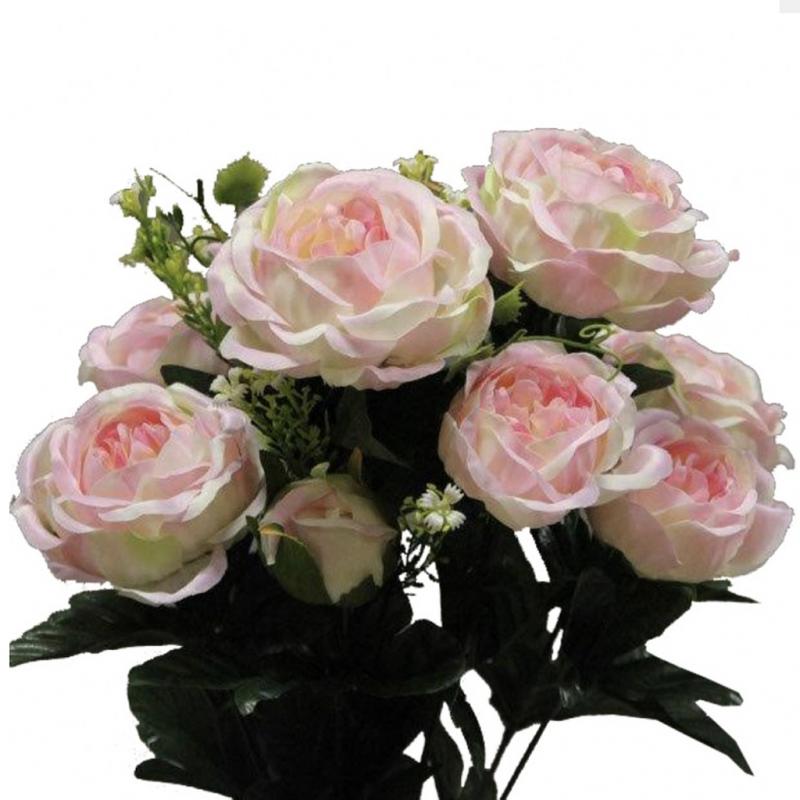 Piquet de Renoncule Artificiel Colette Rose pastel